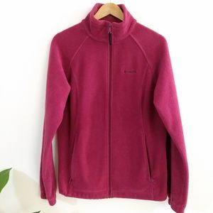 Columbia burgundy fleece jacket